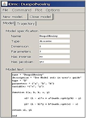 Snímka z iDMC s modelom duopolu